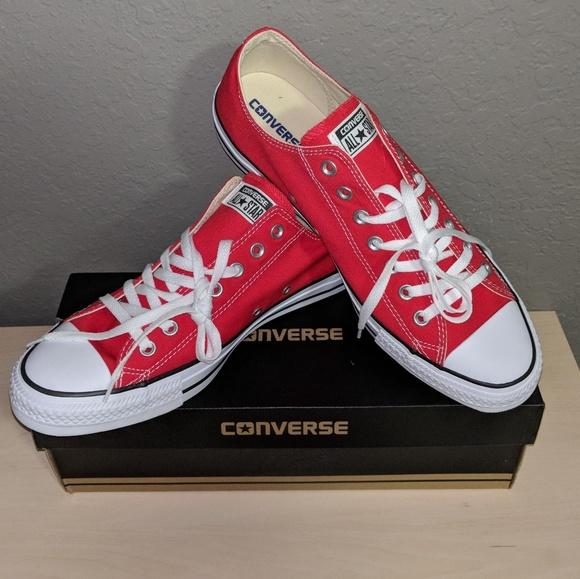 bb92720c4a6 Men s size 12 Red Classics Converse low tops